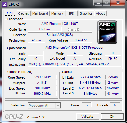 AMD Phenom II 1100T
